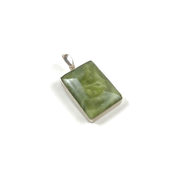 Sterling and Serpentine pendant