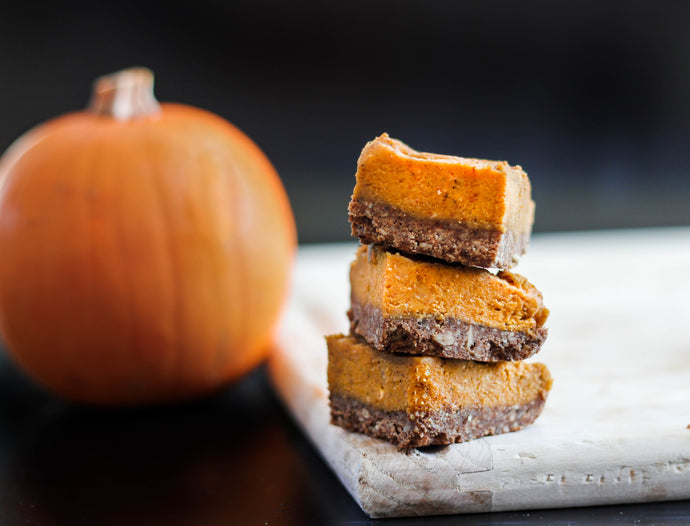 No-Bake Superfood Pumpkin Pie Bar