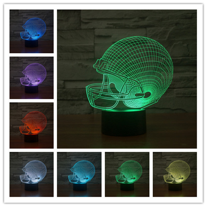 Football Helmet 3D LED Optical Illusion Lamp