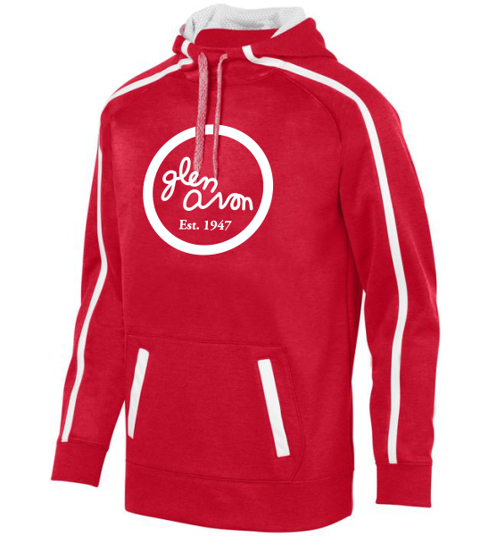 YOUTH GLEN AVON STOKED TONAL HEATHER HOODIE with One Color Printed Logo