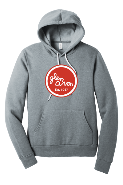 ADULT GLEN AVON BC3719 BELLA+CANVAS ® Unisex Sponge Fleece Pullover Hoodie with a printed circle logo