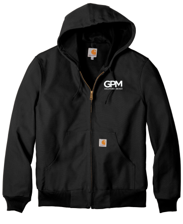 CTJ131 Carhartt ® Thermal-Lined Duck Active Jacket with (white) embroidered logo