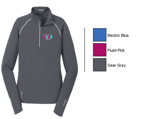 LOE335 OGIO® ENDURANCE Ladies Nexus 1/4-Zip Pullover with embroidered logo