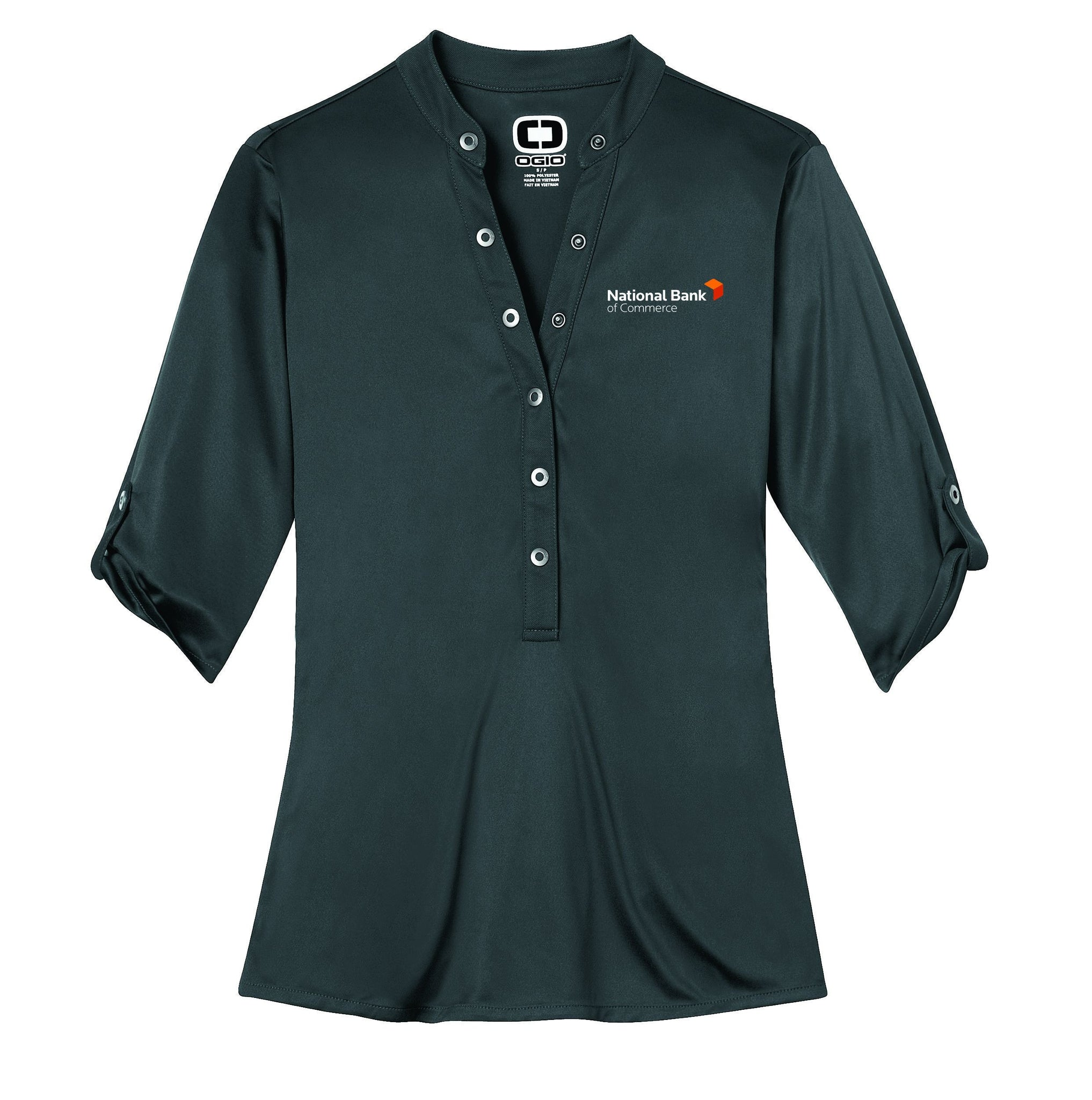 NBC POLO LOG111 OGIO® - Crush Henley with embroidered logo