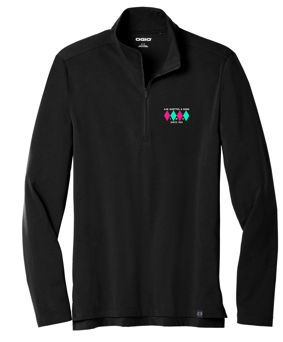 OG139 OGIO ® Limit 1/4-Zip with embroidered logo