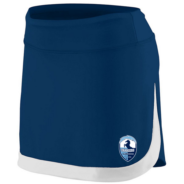 Girls and Ladies Augusta Action Color Block Skort with heat transfer logo
