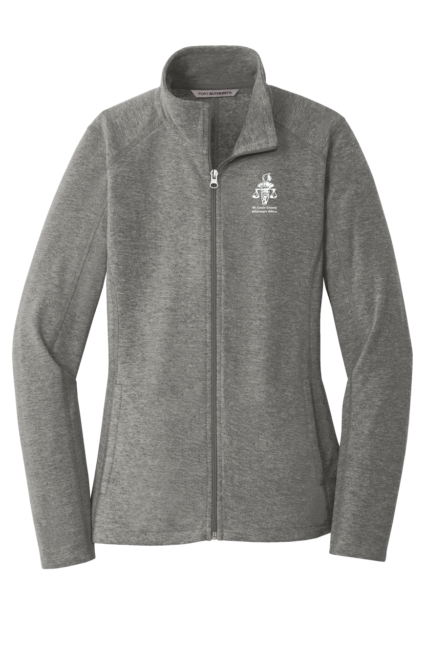 L235 Port Authority® Ladies Heather Microfleece Full-Zip Jacket