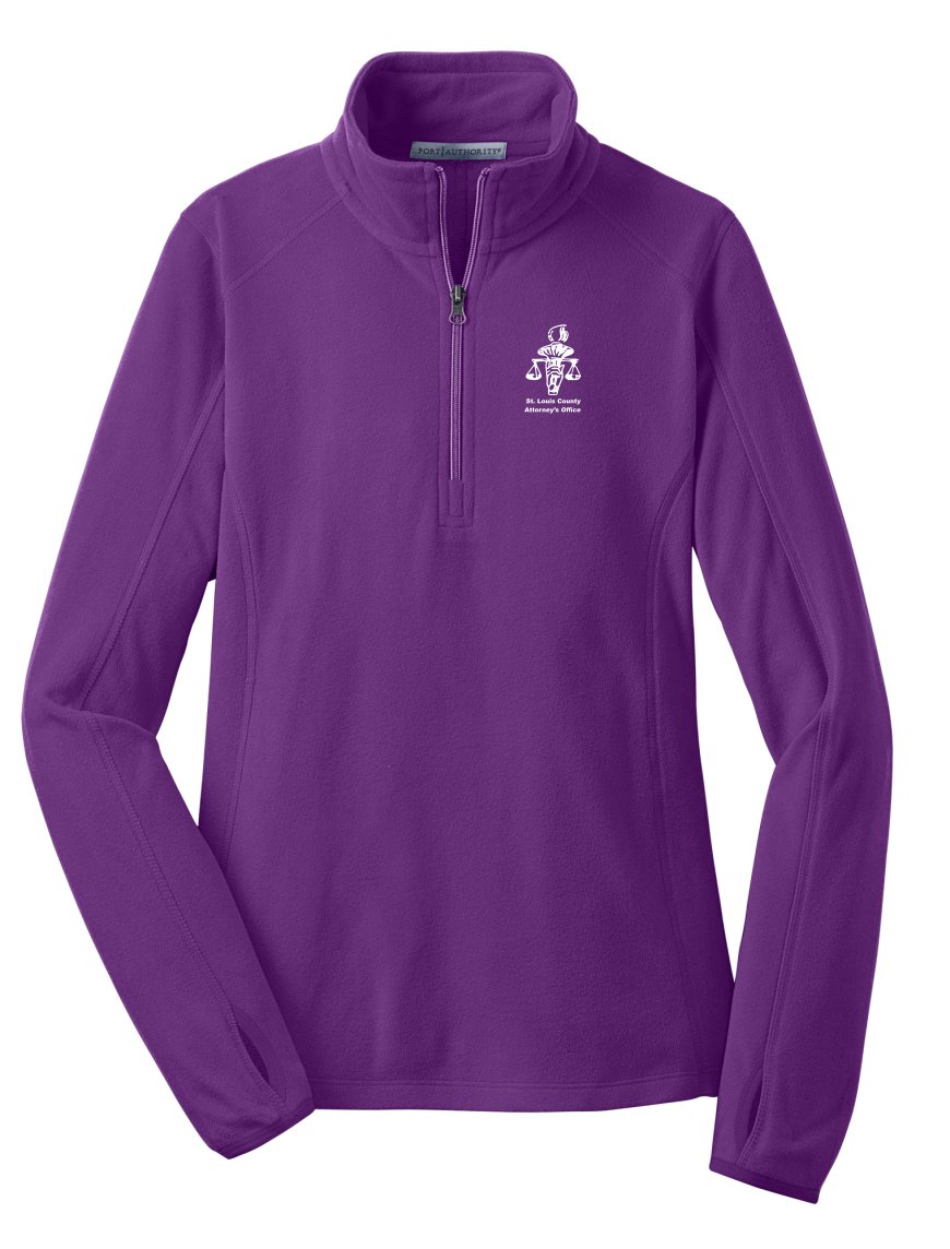 L224 Port Authority® Ladies Microfleece 1/2-Zip Pullover