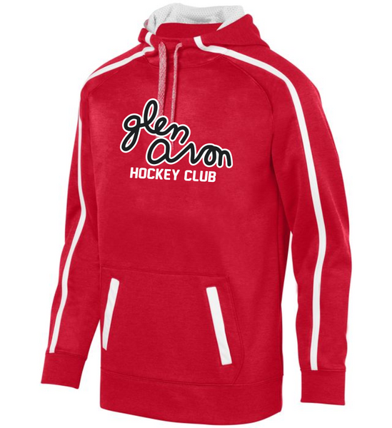 ADULT GLEN AVON STOKED TONAL HEATHER HOODIE with Printed 2 COLOR SCRIPT LOGO