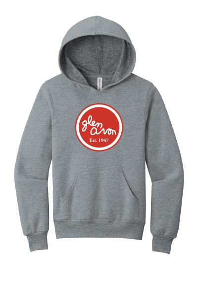 YOUTH GLEN AVON BC3719Y BELLA+CANVAS ® Sponge Fleece Pullover Hoodie with a printed circle logo