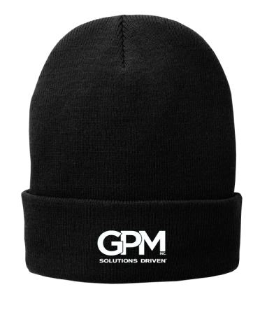 CP90L Port & Company® Fleece-Lined Knit Cap with embroidered logo