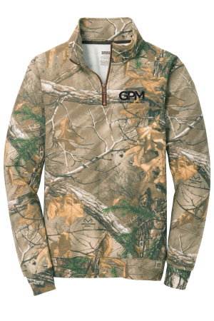 RO78Q Russell Outdoors™ Realtree® 1/4-Zip Sweatshirt with (black) embroidered logo