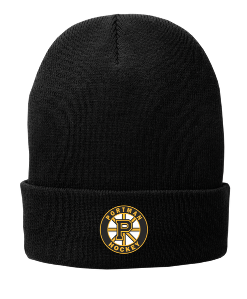 Port & Company® CP90L Fleece-Lined Knit Cap with Embroidered logo