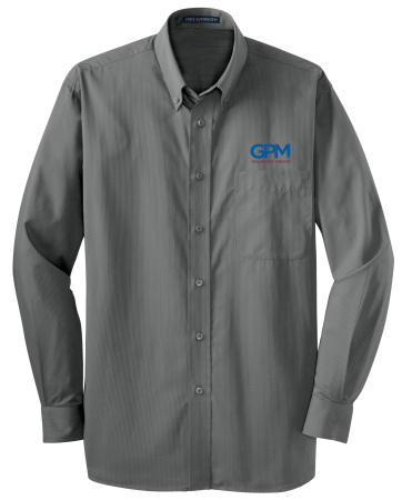 S613 Port Authority® Tonal Pattern Easy Care Shirt with full color embroidery