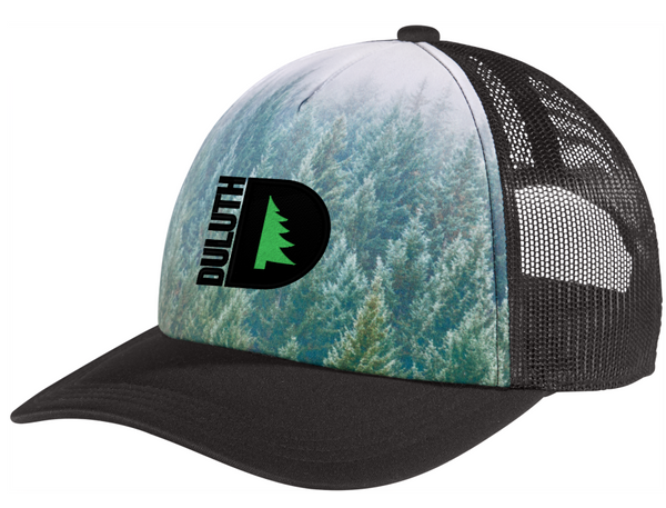 DULUTH GEAR Photo Real Snapback FOAM FRONT Trucker Cap with Embroidered Logo