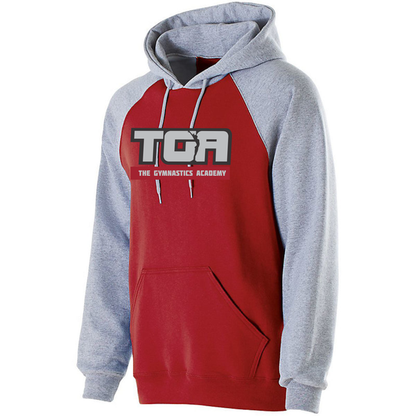 Holloway Youth and Adult Banner Hoodie Style # 229279 with 2 color twill and embroidered logo