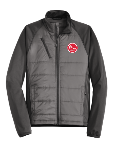 MEN'S GLEN AVON J787 Port Authority® Hybrid Soft Shell Jacket with embroidered CIRCLE logo