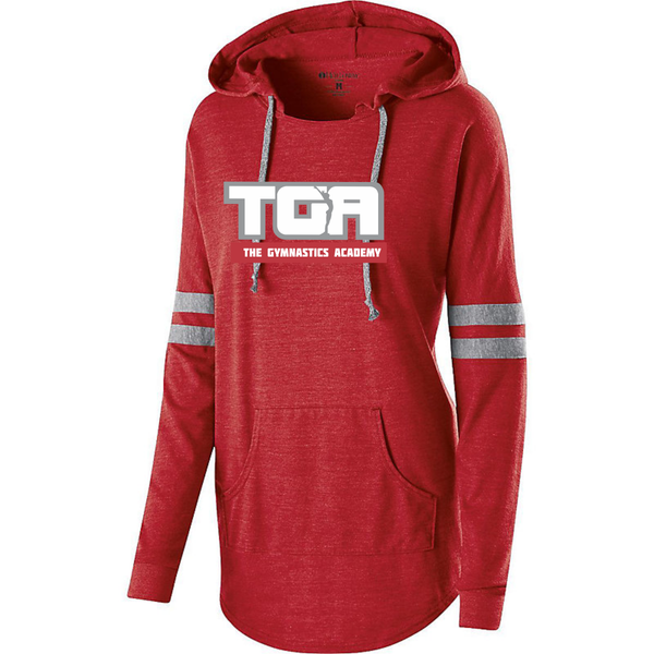Holloway 229390  Ladies Hooded Low Key Pullover with 2 color heat transfer logo