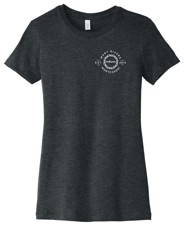 BC6004 BELLA+CANVAS ® Women's The Favorite Tee with logo on left lapel