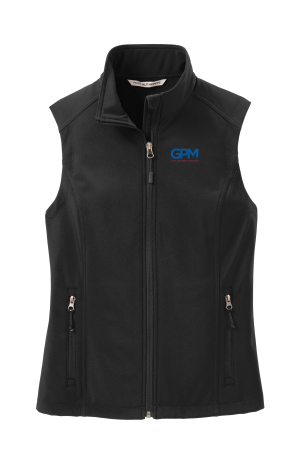 LADIES L325  Port Authority® Ladies Core Soft Shell Vest with full color embroidery
