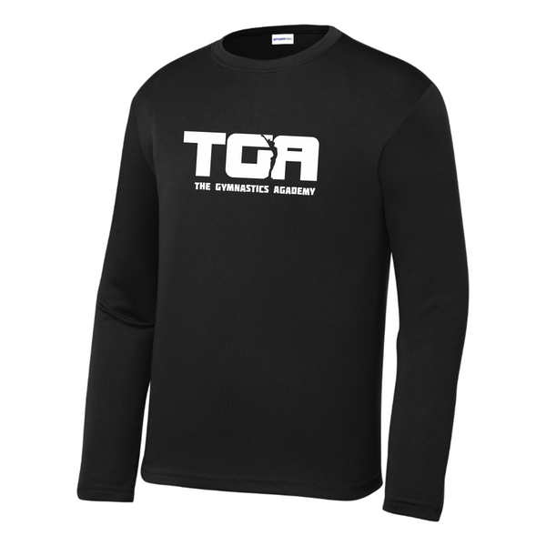 YST350LS Sport-Tek® Youth Long Sleeve PosiCharge® Competitor™ Tee with heat transfer