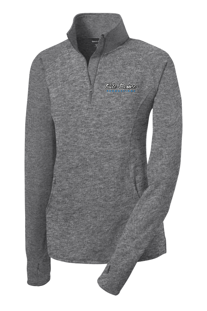 LADIES LST850 Sport-Tek® Ladies Sport-Wick® Stretch 1/2-Zip Pullover with embroidered logo