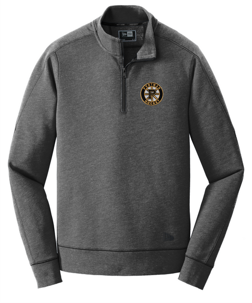 NEA512 New Era® Tri-Blend Fleece 1/4-Zip Pullover with embroidered logo