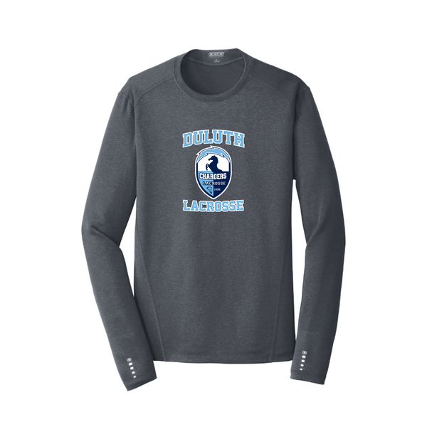 OE321 OGIO® ENDURANCE Long Sleeve Pulse Crew with heat transfer logo