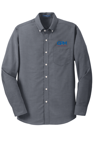 GPM S658 and TS658  Port Authority® SuperPro™ Oxford Shirt with GPM or MADE TOUGH logo