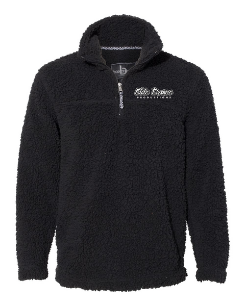 YOUTH ELITE DANCE Boxercraft - Sherpa Fleece Quarter-Zip Pullover - Q10 with embroidered logo