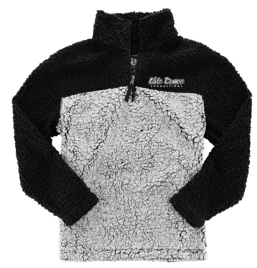 ADULT ELITE DANCE Boxercraft - Unisex Sherpa Fleece Quarter-Zip Pullover - Q10 with embroidered logo