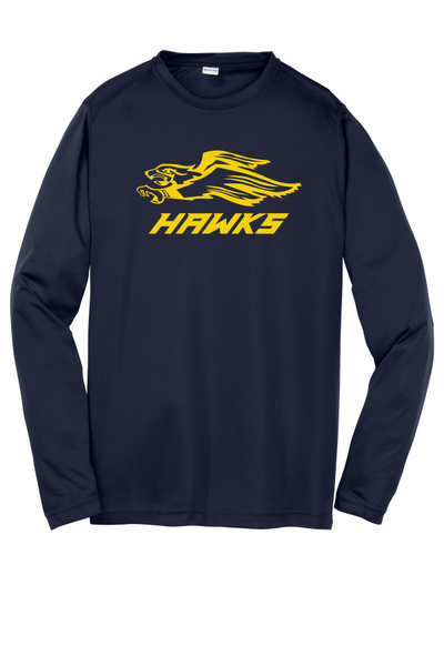 Hermantown Sport-Tek® Youth Long Sleeve PosiCharge® Competitor™ Tee with One Color Hawks logo