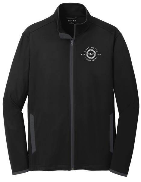 ST853 Sport-Tek® Sport-Wick® Stretch Contrast Full-Zip Jacket with embroidered logo