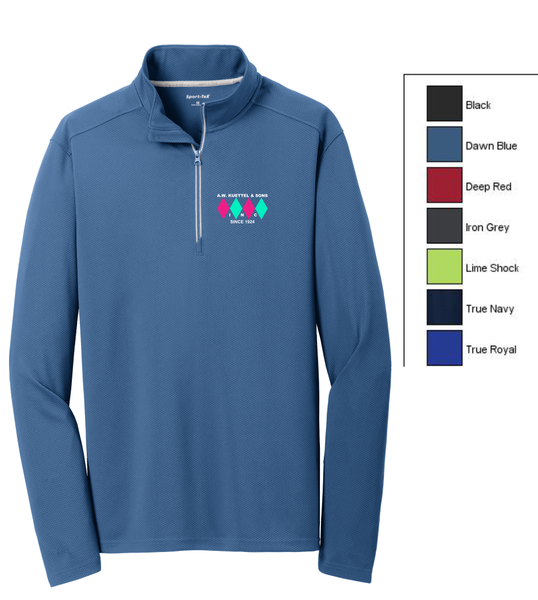 ST860 Sport-Tek® Sport-Wick® Textured 1/4-Zip Pullover with embroidered logo