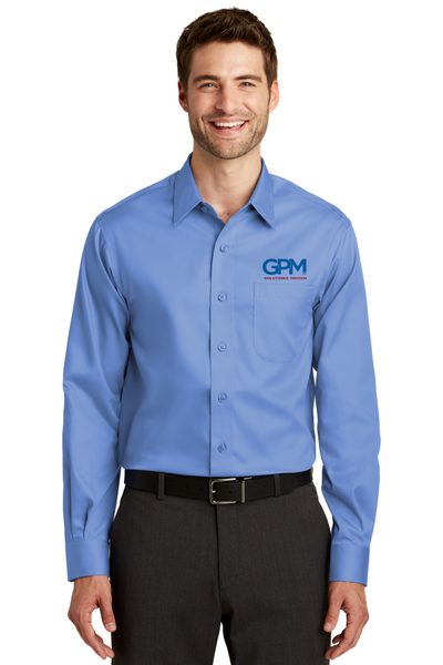 GPM TLS638 Port Authority® Tall Non-Iron Twill Shirt with full color embroidery