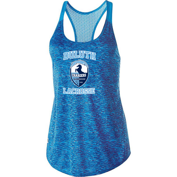 Girls and Ladies Holloway Space Dye Tank with heat transfer logo