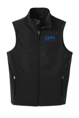 J325 Port Authority® Core Soft Shell Vest with full color embroidery