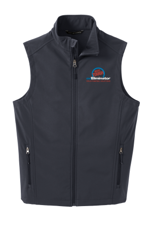 MADE TOUGH LOGO J325 Port Authority® Core Soft Shell Vest with full color embroidery