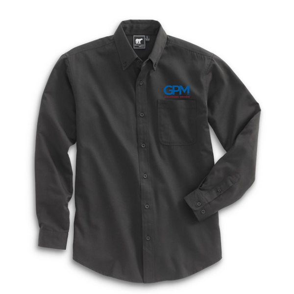 GPM White Bear Clothing 7000 Work About Shirt with embroidered full color logo