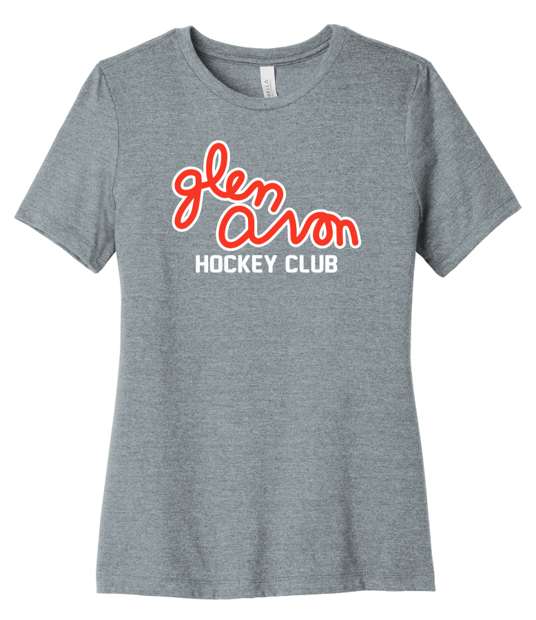LADIES GLEN AVON BC6400 BELLA+CANVAS ® Women's Relaxed Jersey Short Sleeve Tee with 2 color printed Script logo