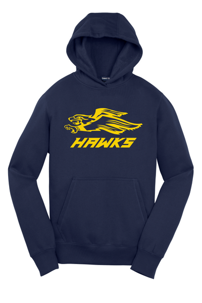 Hermantown YOUTH YST254 Sport-Tek® Youth Pullover Hooded Sweatshirt with one color logo