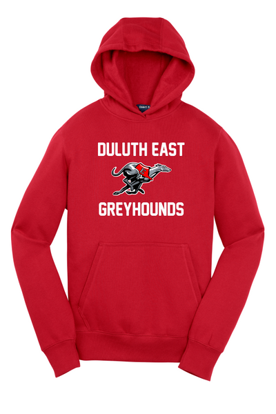 YOUTH HOODIE YST254 Sport-Tek® with Full Color Greyhound and Script logo