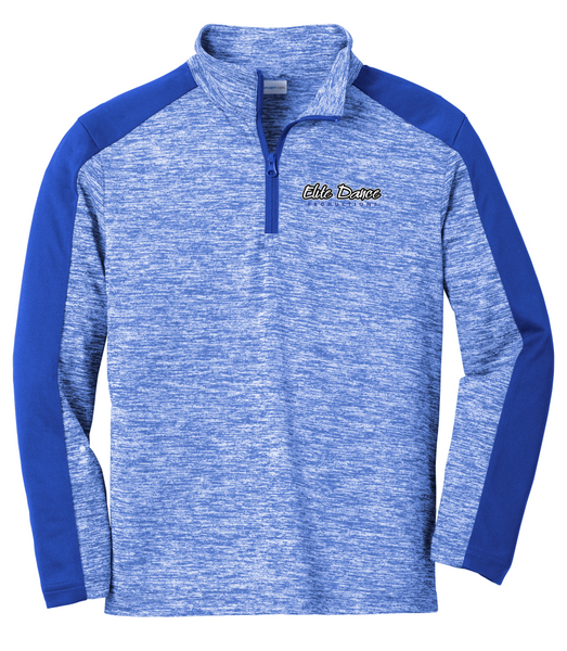 YOUTH YST397 Sport-Tek ® PosiCharge ® Electric Heather Colorblock 1/4-Zip Pullover with embroidered logo