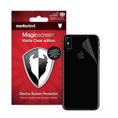 iPhone XS Max Back Protector Film (Matte, Clear) | Magicscreen