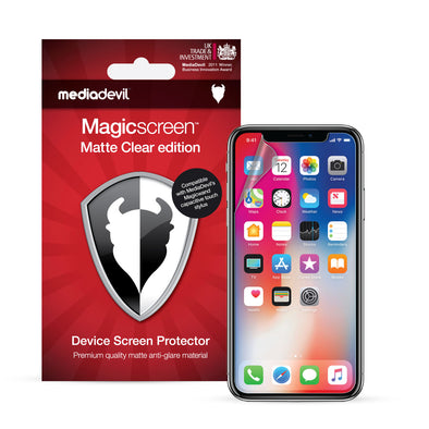 Apple iPhone X / XS Matte Clear (Anti-Glare) Screen Protector | Magicscreen