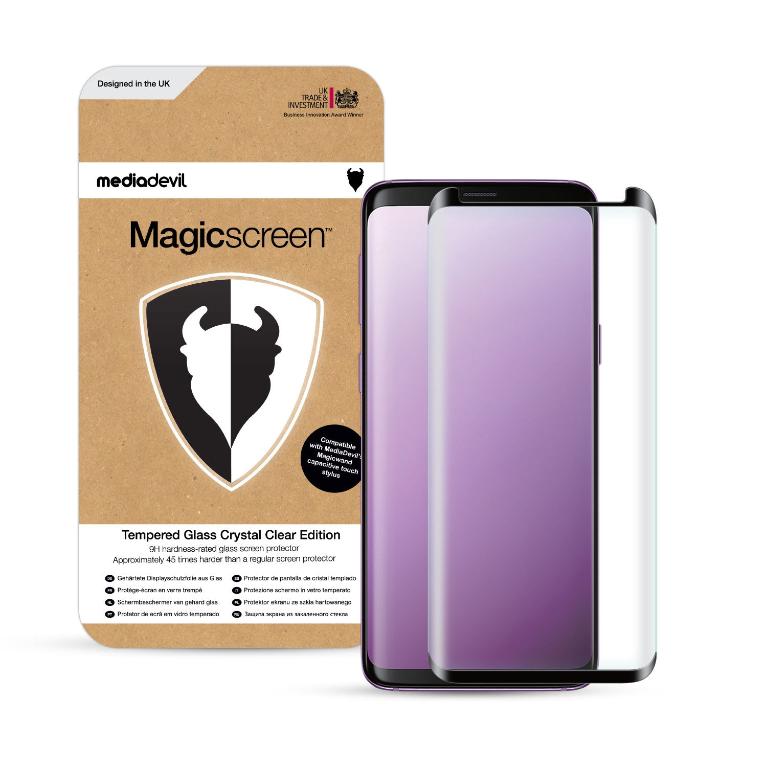 Samsung Galaxy S9+ (S9 Plus) Full-Screen Tempered Glass Screen Protector  (Clear) | Magicscreen