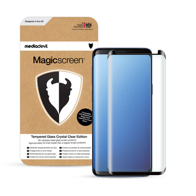 Samsung Galaxy S9 Full-Screen Tempered Glass Screen Protector (Clear) | Magicscreen