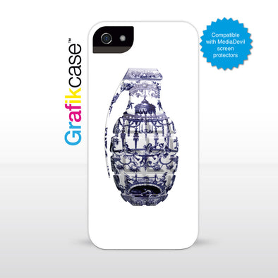 Grafikcase iPhone SE/5/5S case: White Grenade by Magnus Gjoen