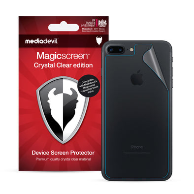 Apple iPhone 7 Plus & iPhone 8 Plus Back (Rear) Screen Protector (Crystal Clear) | Magicscreen