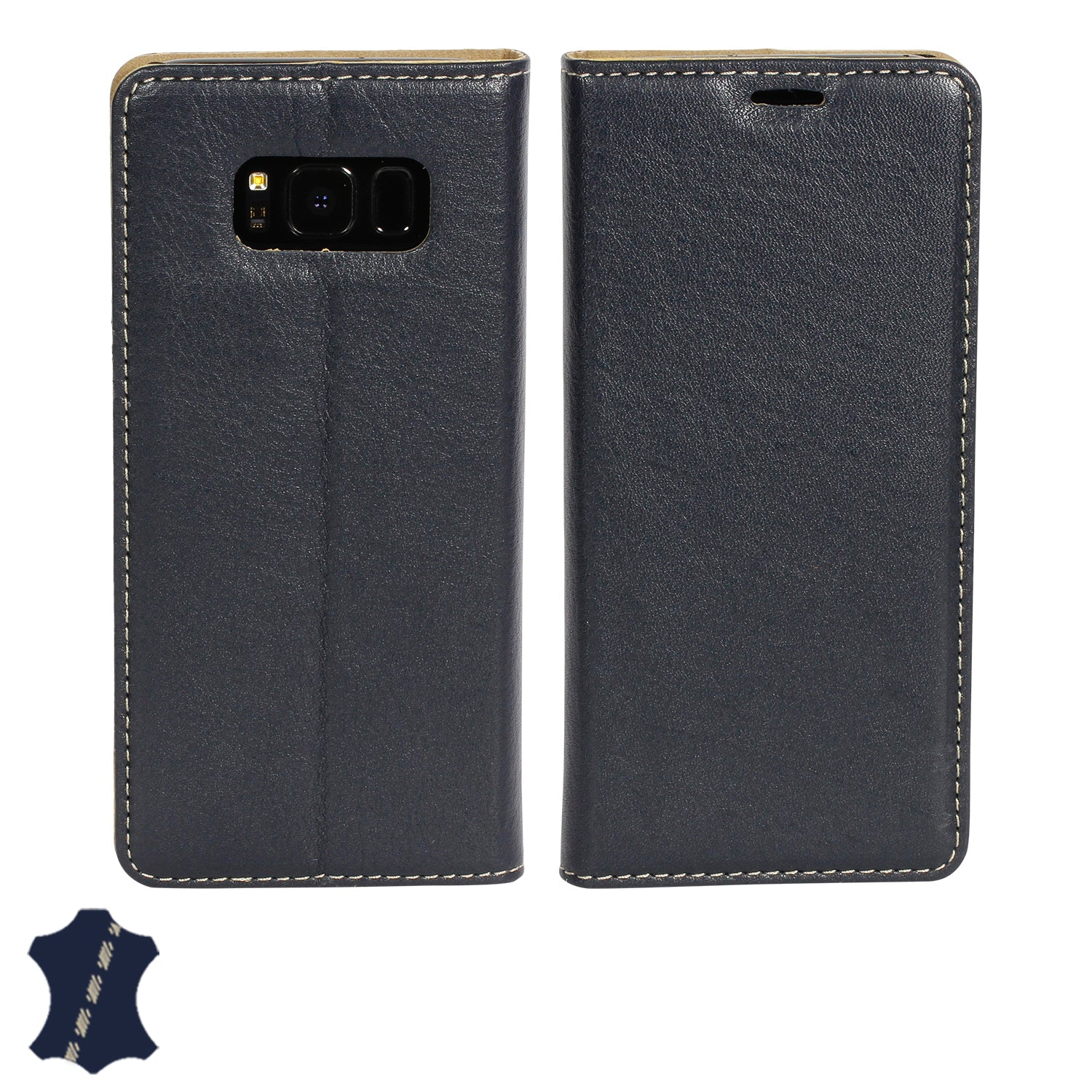 timeless design 806c2 87ac4 Samsung Galaxy S8+ (S8 Plus) Genuine European Leather Notebook Case with  Stand | Artisancover (3rd Gen.)